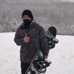 Danny na snowboardu