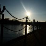 Zábradlí u Vltavy