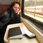 Jedeme domů vlakem