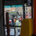 Nehoda trolejbusu na Kotlářské v Brně
