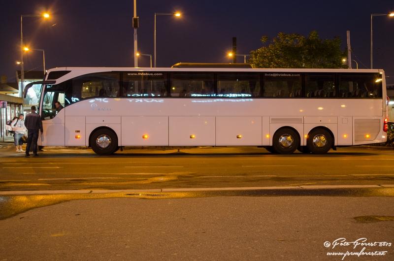 Náš autobus na cestu do Itálie