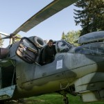 Vojenský vrtulník v Barochově