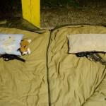 Jak se spí na střelnici :D