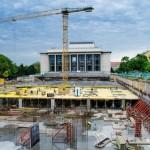 Stavba parkoviště na Moravském náměstí v Brně