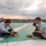 Romantická večeře na heliportu :D