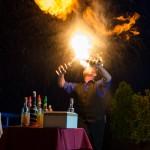 Barmanská ohnivá show