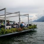 Restaurace u jezera Lago di Garda