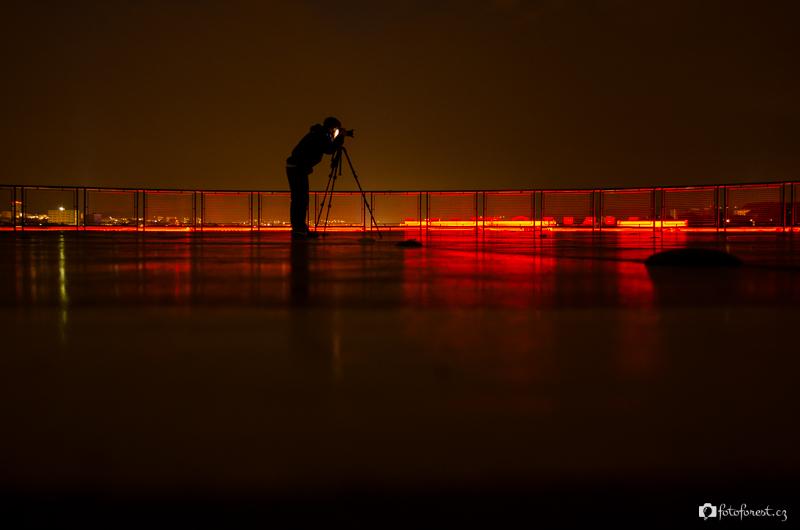Noční heliport