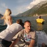Focení na člunu
