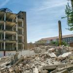 Demolice domu na Lidické v Brně