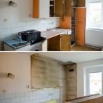 Demolice kuchyně: předtím/potom
