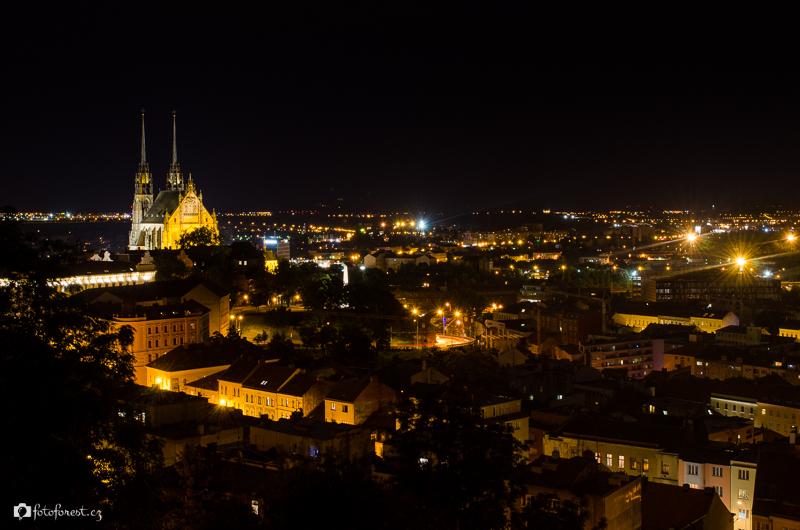 Brno - Špilberk v noci