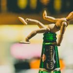 Mužíček s pivem