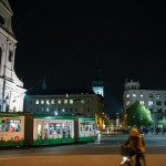 Moravské náměstí v Brně večer