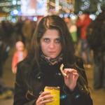 Klára na Vánočních trzích