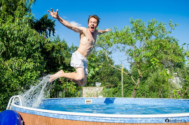 U babičky v bazénu | Brno | 21.7.2013
