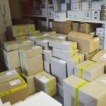 Zabalené balíky pro poštu