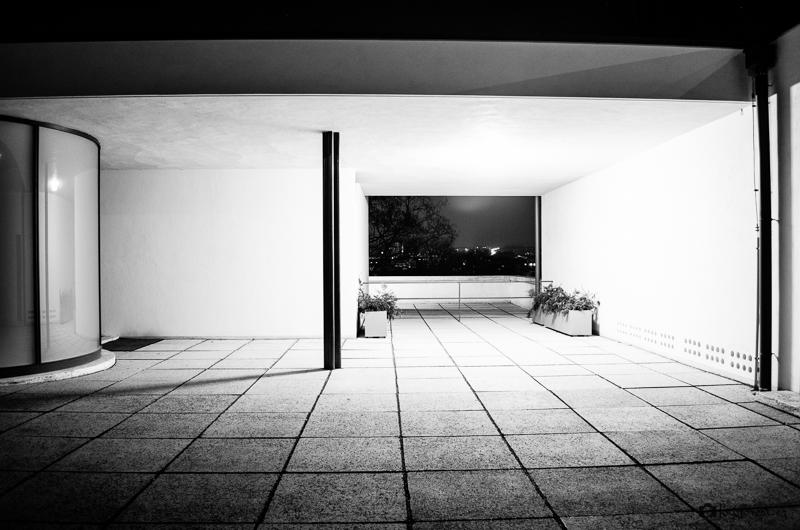 Vila Tugendhat v noci