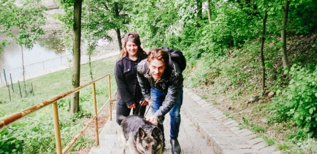 S Deniskou a Agnes na přehradě
