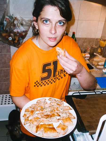 Klářiny pizza šneky