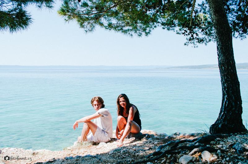 Klára a já na skále v Chorvatsku