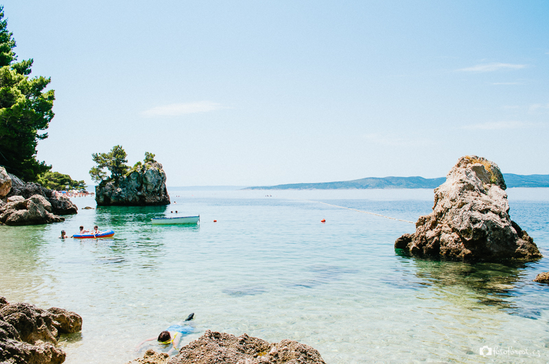 Nejkrásnější pláž Brela v Chorvatsku