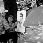 Malíř pouliční umělec