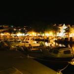 Noční přístav Baška Voda