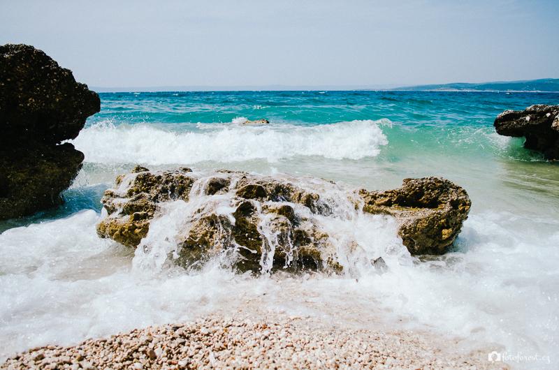 Rozbouřené moře v Chorvatsku