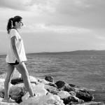 Klára u moře