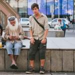 Brněnský krakonoš a bezdomovci na nádraží