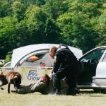 Ukázka práce policejních psů