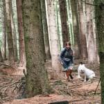 Klára s Márynkou v lese