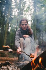 Anglická slanina nad ohněm