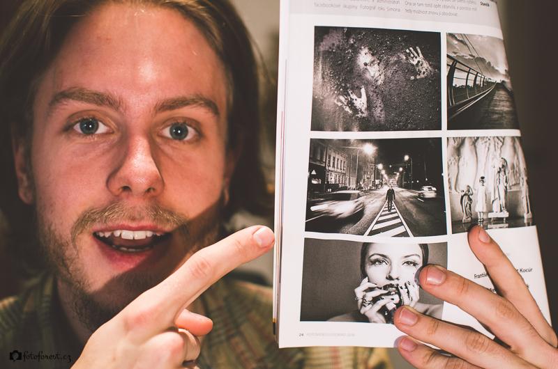 Já s mojí fotkou v časopise Foto Video