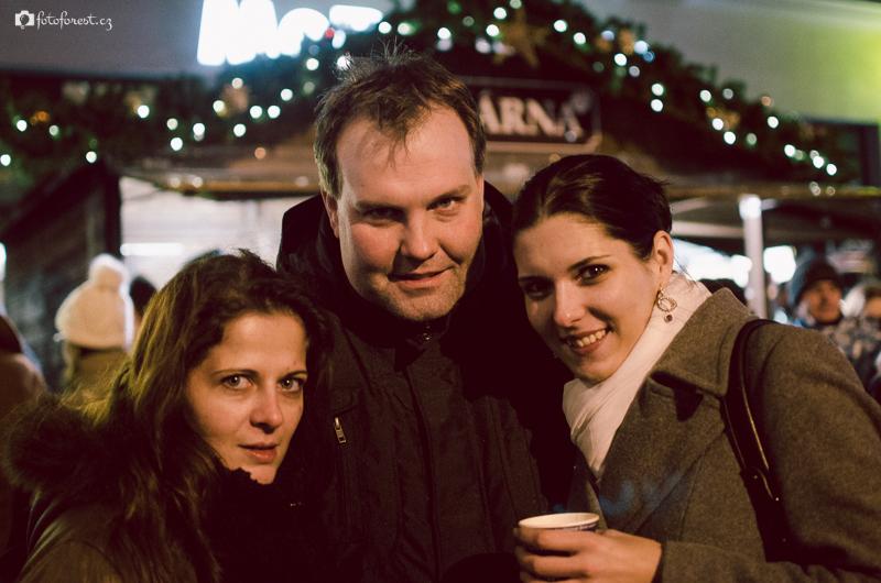 Vánoční trhy na náměstí Svobody v Brně