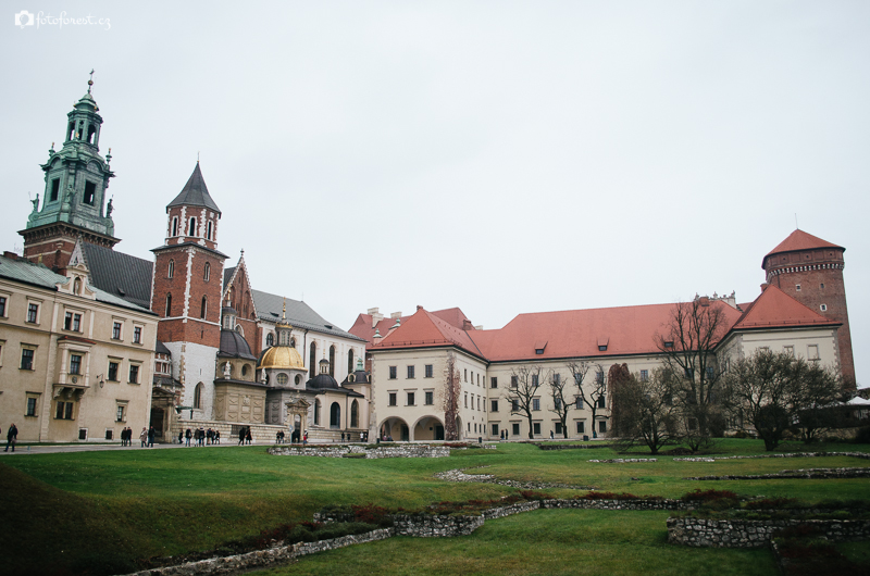 katedrála Wawel v Krakowě v Polsku