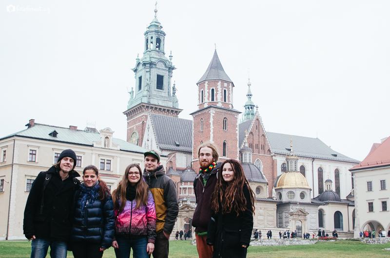 Královský hrad Wawel v Krakowě v Polsku