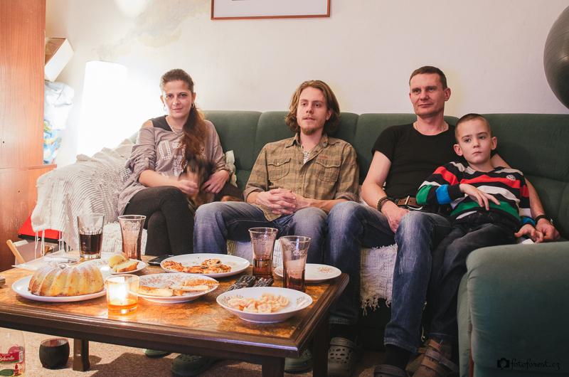 Vánoční rodinná návštěva