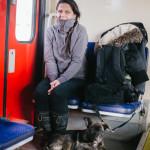 Bučiho první jízda vlakem