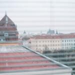 Výhled z kanceláře v Sokolu