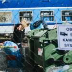 S odpadky na hlavním nádraží v Brně