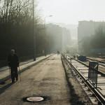 Rozestavěná ulice Milady Horákové a Merhautova