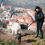 Klára u zámku Moravský Krumlov