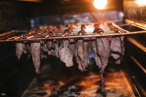 Suším hovězí maso v elektrické troubě