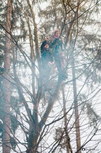 Forest s Romanem na stromě