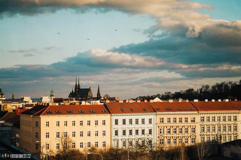 Krásný výhled na Brno s Petrovem