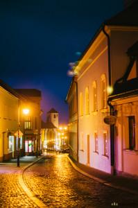 Město Boskovice v noci
