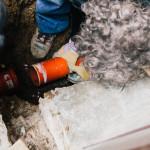 Výměna prasklého odpadního potrubí