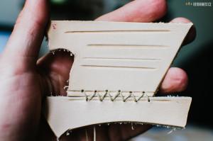 Výroba koženého obalu na Moleskine deník